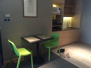 Kitchen + sitting area