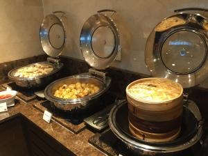 Hot dim sum dishes